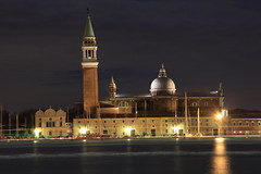 Venice at night (GavinKing) Tags: from night long exposure you photos or tripod ngc lighttrails lighttrail 50dxview everyonevenicexjettyxeosxholidayxeveningxview everyonecannoneosxview everyonecannonxitalyxchurchxview everyonecathedral