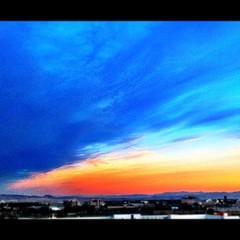 Sunset over Las Vegas #lasvegas #sunset