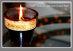 A Time to Celebrate (Judy Gayle) Tags: brown candle bokeh flame elementsorganizer pfchristmas pcobpeace pfcard15