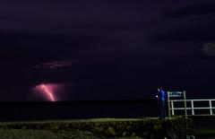 4/366 Self portrait with lightning (Darren McInnes) Tags: sky selfportrait storm night clouds person long exposure lightning 356 366 4356 4366