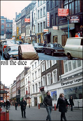 Gerrard Street`1972-2011 (roll the dice) Tags: china christmas uk food london art heritage history classic ford home westminster architecture subway pagoda cafe chinatown traffic soho central chinese shops leicestersquare coventgarden local streetfurniture volks 1972 dumplings seventies oxfordstreet demolished w1 hsbc charingcross westend montblanc parkingmeters bollards oldandnew plaques dwellings wc2 wardour pastandpresent londonist bygone hereandnow johndixonbutler