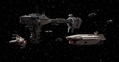 """Princess, we'll find Han. I promise."" (Blockaderunner) Tags: rebel star back lego space millennium medical empire falcon xwing wars fleet frigate strikes nebulonb gallofree gr75"