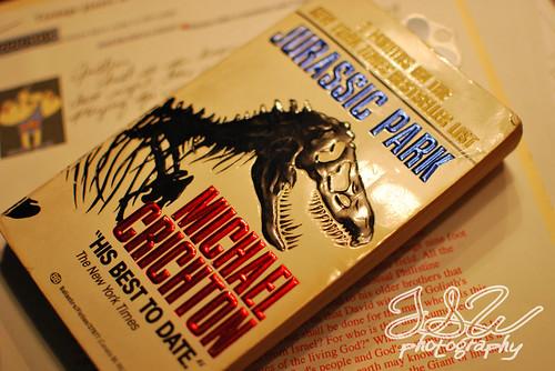 Michael Crichton book fan photo