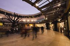On the brink (M!ke Walker) Tags: tree shopping oak long exposure midsummer arcade milton keynes rushing