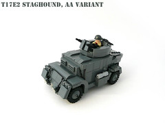 T17E2 Staghound. (Lego Junkie.) Tags: lego wwii aa variant antiaircraft t17 staghound