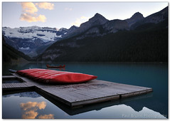 Lake Louise Canoes (Panorama Paul) Tags: canada canoes alberta lakelouise banffnationalpark nohdr sigmalenses nikfilters nikond300 wwwpaulbruinscoza paulbruinsphotography
