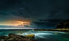Clash of Light and Dark (Bluemonkey08) Tags: sunrise newcastle australia nsw lightning 2012 ericlam swanseaheads tokina1116mmf28atxpro bluemonkey08 nikond7000