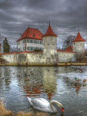 Castle Blutenburg in Winter (madbesl) Tags: winter castle germany munich mnchen bayern deutschland bavaria swan panasonic schwan hdr photomatix schlos platinumheartaward lumixg1 musictomyeyeslevel1
