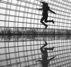 jump! (ShanLuPhoto) Tags: selfportrait blackwhite jump beijing   nationalcentrefortheperformingarts