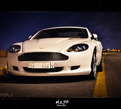 Aston Martin DB9  - M.A.J photography (M.A.J Photography) Tags: street sky white cars car martin super aston db9 مارتن استون mygearandme مارتين اوستن on77