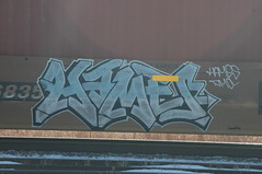 Hames (A & P Bench) Tags: train bench graffiti fan graf rail canadian graff railfan freight dmc rollingstock hames fr8 benching hamez