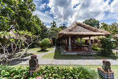Laka-Lk Restaurant (Alexander Ipfelkofer) Tags: bali garden indonesia landscape restaurant hut ornament ubud lakaleke