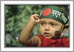 Freedom (||-SAM Nasim-||) Tags: red portrait baby flower green beauty creativity freedom 1971 kid nikon war december day fighter child sam random flag victory creation national dhaka portfolio liberation bangladesh tsc nasim d90