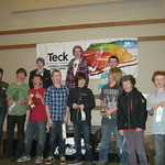 January 2012 Teck Kinder Races hosted by Kimberley North Star Racers - Saturday K1 Boys with Tammy, representative from Teck