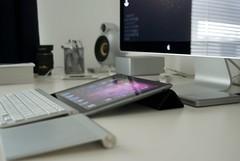 Desk (raymondkerr) Tags: apple raw stevejobs seagate belkin micropod nikonlens scandyna macbookair ledcinemadisplay twelvesouth