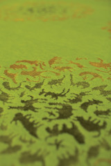 Happy Carpets - Many Party Zoo, green - detail