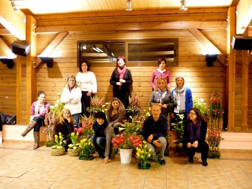 Curso Ampliación Técnica base Floral en Zaragoza enero 2012