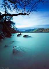 Derwent Rocks (Buckles Photos) Tags: longexposure lake tree water rocks lakes lakedistrict cumbria derwentwater