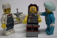 Now open wide! (Paranoid from suffolk) Tags: fighter lego butcher nurse 365 minifigs 2012 minifigures series6 porject365