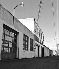 Autoshop alley () Tags: auto door city windows urban usa car shop america photo washington automobile view angle state pacific northwest image garage united picture gritty neighborhood photograph repair sound vehicle local states puget southtacoma gritcity