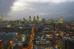 Westerly panorama (Badly Drawn Dad) Tags: london skyline geotagged unitedkingdom whitechapel e1 gbr skanska newbuild viewfrom royallondonhospital pfi newhospital geo:lat=5151768787 geo:lon=005930097