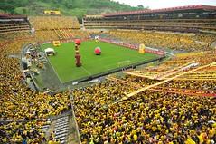 Casa llena (Diario El Universo) Tags: ecuador ftbol gol 2012 amistoso independientesantafe nocheamarilla barcelonasportingclub