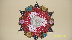 Rose Star block 1 (Sew Nicely) Tags: rose star blocks