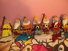 The seven dwarfs dolls (lisaDoll101) Tags: white snow happy doll disney sleepy seven doc grumpy dopey bashful sneezy dwars