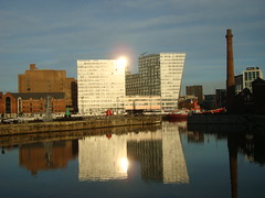 H (notFlunky) Tags: uk england reflection water weather liverpool mirror dock day image albert echo arena number clear h reflect relection letter alphabet mersey glint merseyside nttw