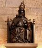 Dortmund, Westfalen, Marienkirche, statue (groenling) Tags: wood statue germany de deutschland krone globe god earth carving nrw crown marienkirche bild holz dortmund nordrheinwestfalen throne woodcarving westfalen gott thron erdkugel