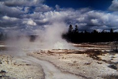 A-2 Geyser 1980... (Sea Moon) Tags: water small steam crater yellowstone hotspring volcanic geothermal eruption formations splashes silica intermittent geyserite