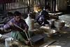 Stripping Bamboo (cormend) Tags: travel light shop canon eos asia burma bamboo myanmar southeast bagan lacquerware 50d myinkaba cormend