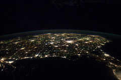Eastern Two-Thirds of U.S. at Night (NASA, International Space Station, 01/29/12) (NASA's Marshall Space Flight Center) Tags: atlanta gulfofmexico mobile mississippi georgia birmingham louisiana unitedstates florida huntsville charlotte memphis tennessee neworleans alabama southcarolina northcarolina nasa jacksonville montgomery savannah biloxi pensacola atlanticcoast internationalspacestation pascagoula earthatnight crewearthobservation spacestationresearch