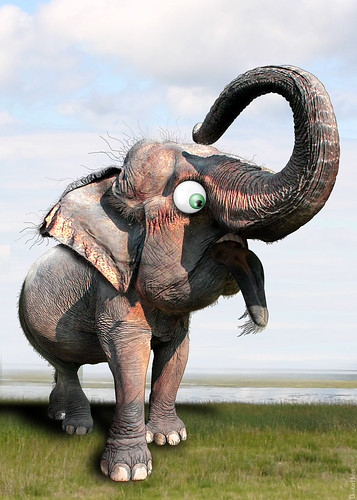 Ever wonder why the elephant is the Repub. symbol?  Me too.