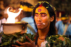 Thaipusam hindu festival (Igor Bilic) Tags: nightphotography india religious temple photography shrine photos body indian religion pins piercing celebration malaysia torture knives kualalumpur procession lime hindu shrines kl batucaves trance thaipusam hooks 2012 highiso murugan skewers indija velvel tetoviranje igorbilic  srisubramaniar taippcam igorbilicportfolio