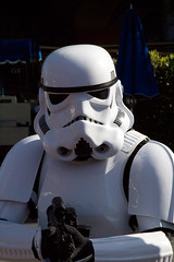 What are you doing here? (rob-the-org) Tags: starwars disneyland noflash stormtrooper tomorrowland uncropped f25 126mm iso4000 13200sec