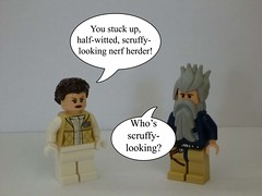 Lego Funny 11 (LegoPotato77) Tags: star funny comedy lego solo wars nerf han leia scruffy herder