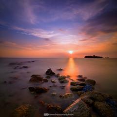 Blessed Path (Firdaus Mahadi) Tags: longexposure light sunset shadow sea sky sun water landscape island evening scenery malaysia pulau melaka pemandangan bayang longexposures petang nd1000 masjidtanah pengkalanbalak telokgong lightbath vertorama manfrotto055xprob selatmelaka tokina1116mmf28 straitsofmelaka firdausmahadi firdaus™