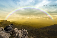 (Rawlways) Tags: sky mountain landscape rainbow
