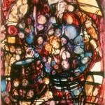 "<b>Bouquet of Humanity</b><br/> Theresa Asia (1914-) ""Bouquet of Humanity"" Acrylic, ca. 1970 LFAC #524<a href=""http://farm8.static.flickr.com/7152/6852263753_c14d58f1dc_o.jpg"" title=""High res"">∝</a>"
