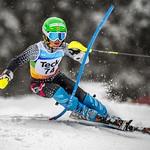 Asher Jordan, Whistler Mountain Ski Club, racing slalom at Purden U16 Provincials PHOTO CREDIT: Jordan Steele