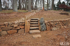 WM Mark Jurus 20, retaining wall, fire pit, out door space, steps, flat cap stones, dry laid stone construction, copyright 2014