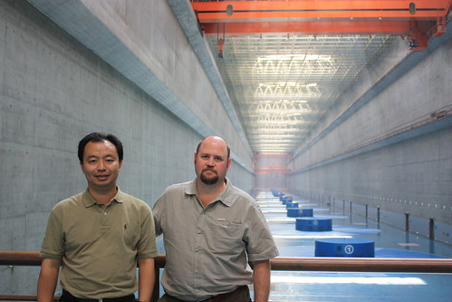 Zhiqun (Daniel) Deng (l) and Rich Brown