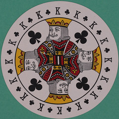 Discus Round Playing Card King of Clubs (Leo Reynolds) Tags: playing canon eos iso100 deck card squaredcircle 60mm f80 playingcard carddeck 005sec 40d hpexif 033ev xleol30x sqset101 xxvisiblexx