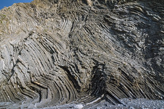 Barrika (jdelrivero) Tags: espaa costa rock spain places lugares material geology roca geologia barrika pliegue