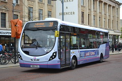 First Norwich 47507 SN64CRJ (Will Swain) Tags: norwich 14th may 2016 bus buses transport travel uk britain vehicle vehicles county country england english south east city centre norfolk anglia first 47507 sn64crj