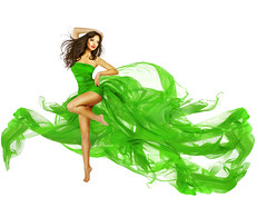 Woman Dancing in Green Dress, Dancer Fashion Model with Flying Silk Fabric over White (noor.khan.alam) Tags: woman white motion sexy green girl beautiful beauty fashion lady female painting hair happy person flying dance model glamour ballerina long dress dynamic legs artistic wind body background over fulllength young silk posing blowing dancer latvia clothes textile fabric flowing hispanic gown cloth elegant fitness waving isolated fluttering active womandancing womandress