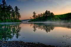 An-Early-May-Morning (desouto) Tags: flowers trees lake sunrise landscape hdr