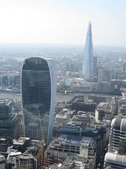 View from the roof of Tower 42 (John Steedman) Tags: uk greatbritain england london unitedkingdom shard walkietalkie grossbritannien     grandebretagne