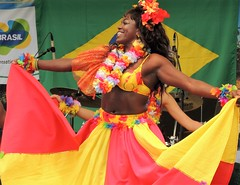 Brazil day dancing (bokage) Tags: woman dance dress dancing sweden stockholm brazilday kungstrdgrden bokage